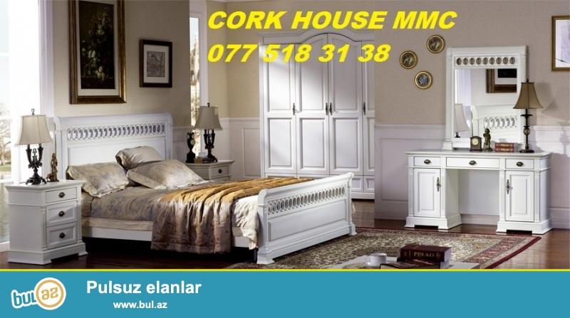 Keyfiyyetli Turkiye,Finlandiya ve Almaniya materiallarindan yeni debli yataq mebellerini serfeli munasib qiymetlerle Cork House MMC de sifaris ederek hazirladin...