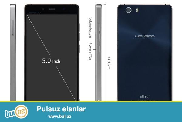 Telefon-Leagoo Elite 1 <br /> Pro:MT6753 1.3 GHz <br /> Ram:3GB <br /> Yaddaw:32GB <br /> Ekran:5 <br /> Sim:2x micro(Duas) <br /> Bat:2400ma <br /> Ceki:136 qr...