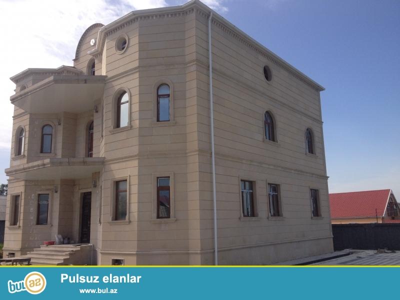 qabala merkezinde 17 sota yaxin ful temir villa kiraye verilir ve satlir barter olunur