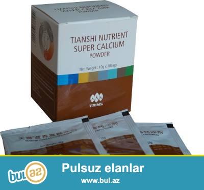 Kalsium tozu.(35AZN) <br /> Tərkibi:iribuynuzlu öküzlərin sümüyündən hazırlanmış kalsium tozu,vitaminlər,minerallar...