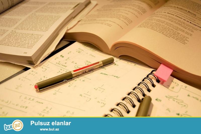 Bakı Slavyan Universitetini bitirmişəm.6 ildir repetitor müəllim olaraq fəaliyyət göstərirəm...