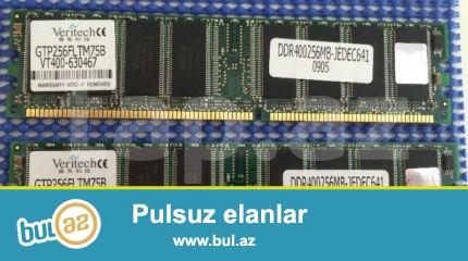 Veritech Ram 3x256Mb DDR1 400Mhz PC3200.<br /> (TEST edilib...