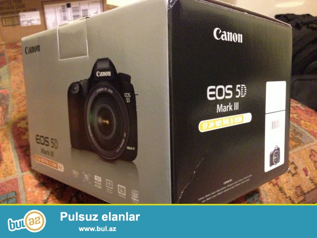 Canon EOS 5D III Kit: DSLR Camera + EF 24-105mm f / 4L USM Lens IS...