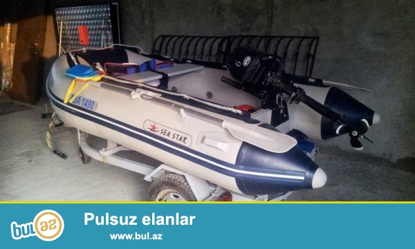 Sea Master Motorlu şışmə qayıq. <br /> Tohatsu 8 motor. <br /> Boyu 3 m. <br /> 3 nəfərlik əla vəziyyətdə qayıq...