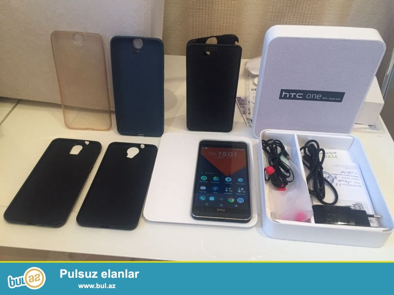 HTC one Е9+ 32gb, 3ram camera,arxa 20 qabağ 4 ultrapixel ...