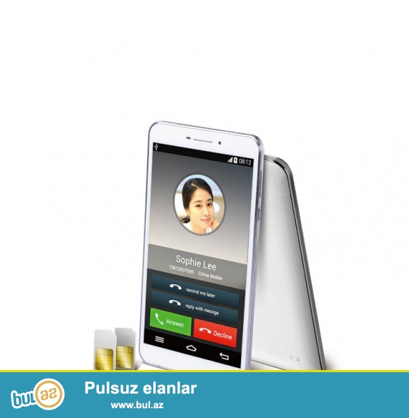 "Yeni.Qutuda.Çatdırılma pulsuz<br /> Sanei G695 4 nuveli 6.95"" HD 1024x600 3G Dual Camera 5mp 1G RAM 8G ROM with Bluetooth/GPS<br /> Product Tipi Tablet PC<br /> Brand Sanei<br /> Model G695<br /> Ekran ölçüsü 6..."