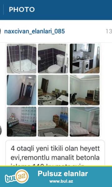 naxcivanda yerlewir 4 otaqli kursulu kuxnasi kalidorlu kuxna mebeli her bir weraiti olan ev satilir ve ya bakida evle deyiwdirilir