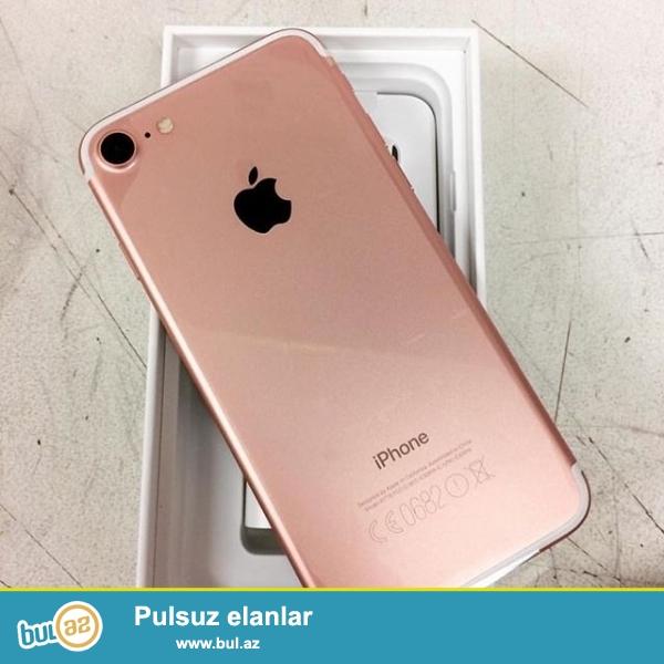 Iphone 7 Dubay varianti satiram, rengleri var, telefonlar 1:1 kopyadir, pakovkada yenidir. Butun proqramlari destekleyir...