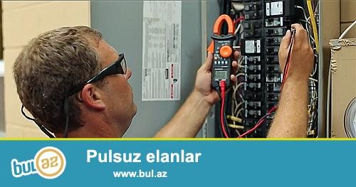 Müasir standartlara uyğun elektrik işlərinin 30 illik təcrübə ilə görülməsi.