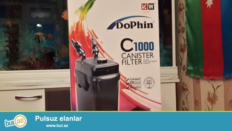 Dophin-C1000 Bio Filtir 300lt ici dolu teze karobkada.