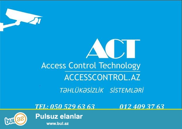 Domofon-Daxili kilid acma funksiyasi <br /> Siqnalizasiya-5nomreye zeng etme funksiyai <br /> Kamera-Canli (Telefon ve ya Plansetle kenardan) izlemek imkani <br /> AccessControl-Kart ,Barmaq izi ve Uz taninma sistemi <br /> Turniket-Access Control sistemleri vasitesiyle <br /> Slaqbaum-Access Control sistemi vasitesiyle <br /> IT -proqram teminati,Sebekelerin qurulmasi) <br /> Satishini ve qurashdirilmasini teklif edir.