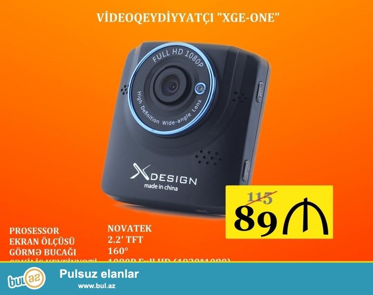 - Prosessor - Novatek <br /> - Matrisa tipi - CMOS <br /> - Foto kamera - 12 MP (4032*3024), 10 MP (3648*2736), 8 MP (3264*2448), 5 MP (2592*1994), 4 MP (2289*1712) 3 MP (2048*1536), 1,3 MP (1280*960), <br /> - Foto formatı - JPEG <br /> - Çəkiliş bucağı - 160° <br /> - Çəkiliş keyfiyyəti - 1080P Full HD (1920*1080), 720P (1280*720), 480P (720*480), VGA (640*480), QVGA (320*240) <br /> - Siklik yazma - 3 dəq, 5 dəq, 10 dəq <br /> - Ekspozisiya - EV: +2, +5/3, +4/3, +1...