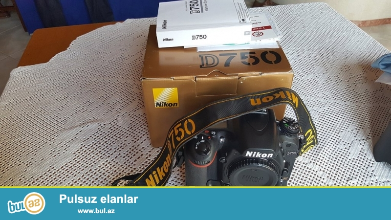 Nikon D750 Digital SLR Camera Body 24.3MP FX-format Brand New<br /> <br /> Brand: Nikon<br /> Optical Zoom: 1x<br /> Model: D750<br /> Batareya növü: Lithium-ion<br /> Series: Nikon D<br /> İstehsalçı Zəmanət: yes<br /> Dil: İngilis dili və Japaneses Only<br /> Növ: Digital SLR<br /> Version: Idxal<br /> Megapixel: 24...