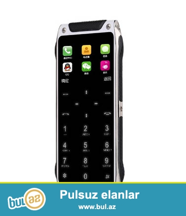 Yeni.Çatdırılma pulsuz<br /> Ultranazik iki nömrəli sönerken düymeleri görünmeyen telefon Anica Turbo X<br /> Dillər<br /> İngilis, Ərəb, Fransız, Rus, İspaniya, Türk, Alman<br /> tezlik<br /> GSM 850/900/1800 / 1900MHz<br /> Funksialar<br /> MP3, FM, Bluetooth, səs yazıcı<br /> Infrared uzaqdan nəzarət, MP3, FM, Bluetooth 3...