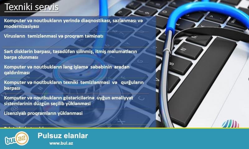 Hər növ kompyuter xidmətləri və kompyuter aksesualarını sifariş edə bilərsiniz...