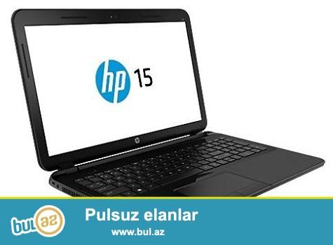 HP 15-d078sr TƏZƏ Satılır. (1il servis zəmanəti ilə) 900azn (Digər dükanlarda 1022azn<br /> Intel HD 4000 (2,6 QHs, gizli yer-yaddaş 3 MB, 2 nüvə) qrafik xəritəsiylə Core i5-3230M Intel prosessoru<br /> • 500 ГБ, 5400 об/мин SATA<br /> • VideokartıNVIDIA GeForce 820M (1 Qb DDR3-ün seçilmiş (ayırılmış) yaddaşı<br /> • 4 Гб 1600 МГц DDR3L SDRAM (1 x 2 Гб)<br /> • 802...
