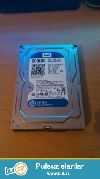 WD 500GB/16mb/7200rpm. Problemi: herden isliyir, herden islemir...