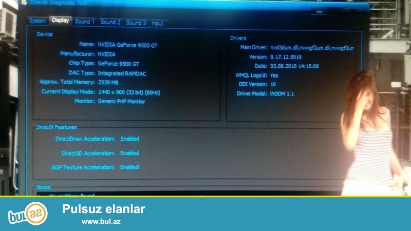 "MELUMATI AXIRACAN OXUYUN RICA EDIREM <br /> Sekillerde Baxin <br /> Ram 4 <br /> Video Karta 1 gb 9500 <br /> Intel Core i3 <br /> 4 Ram Yeri Var Yeni 4 Dene 8diy Taxa Bilersiz <br /> 4 Video Karta Yeri Var <br /> Ana Plata Asus""du Yeke Platadi <br /> Manitor LG 19..."