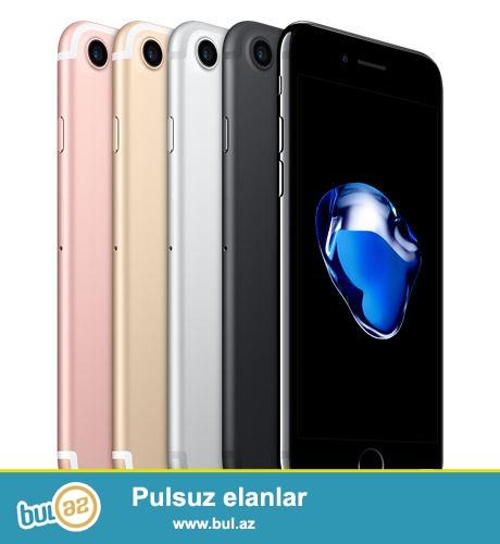 Hal hazirde elve var<br /> İ Phone 7 32 gb<br /> 5 - Black 790$<br /> 5 - Rose gold 800$<br /> <br /> i Phone 7 128 gb <br /> 1 - Black 920$<br /> 2 - Rose gold 920$<br /> 1 - Jet black 960$<br /> <br /> iPhone 7 / 256gb<br /> Black - 1 - 990$<br /> <br /> İ Phone 7 plus 32 gb<br /> 8 - Black 1000$<br /> 1 - Rose gold 1000$<br /> <br /> İ Phone 7 plus 128 gb<br /> 1 - Black 1180$<br /> 1 - Rose gold 1110$<br /> 1 - Jet black 1240$<br /> Samsung S7 edge Gold 650$<br /> Dollar günün məzənnəsinə uyqun hesablanır ! <br /> <br /> Elaqə : 0702141122 whatsapp 24/7 online <br /> : 0705535018 whatsapp 24/7 online