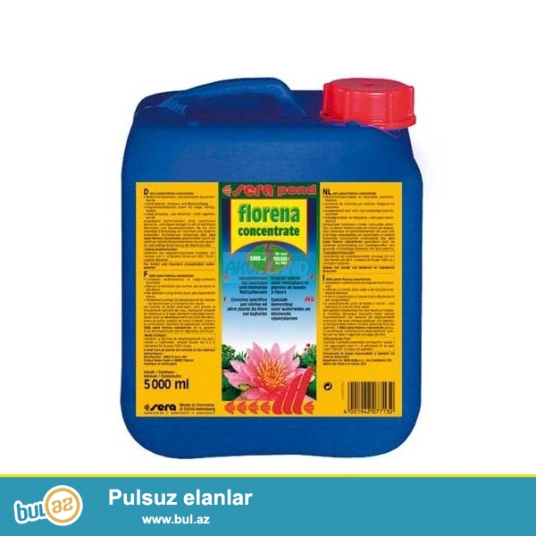 Sera pond florena concentrate 100 ml 2000ltre <br /> Tetra plantamindən keyfiyyətli və cox sərfəli <br /> isyehsalci olke Almaniya.