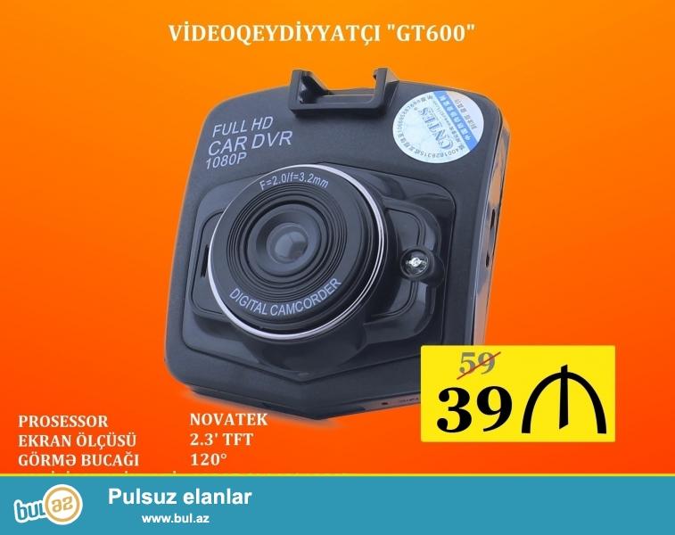 - Prosessor - Novatek <br /> - Matrisa tipi - CMOS <br /> - Foto kamera - 3 MP (2048*1536), 2 MP (1920*1080), 1,3 MP (1280*960), VGA (640*480) <br /> - Foto formatı - JPEG <br /> - Çəkiliş bucağı - 120° <br /> - Çəkiliş keyfiyyəti - 1080P (1440*1080), 720P (1280*720), VGA (640*480) <br /> - Siklik yazma - 1 dəq, 3 dəq, 5 dəq, 10 dəq <br /> - Yaddaş dəstəyi - Micro SD 32GB (max) <br /> - Displey ölçüsü - 2...