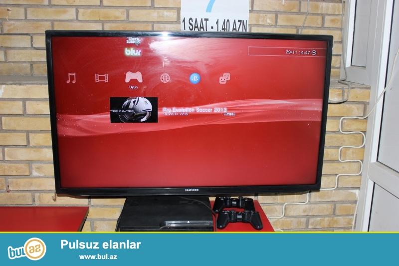 "Hazir playstation salonu satilir<br /> 4 eded 82 ekran Samsung televizor<br /> 2 eded 109 ekran LG televizor<br /> 6 eded playstation super slim (içində əsas oyunlar""pes2013(türk spiker),blur,gta ve s..."