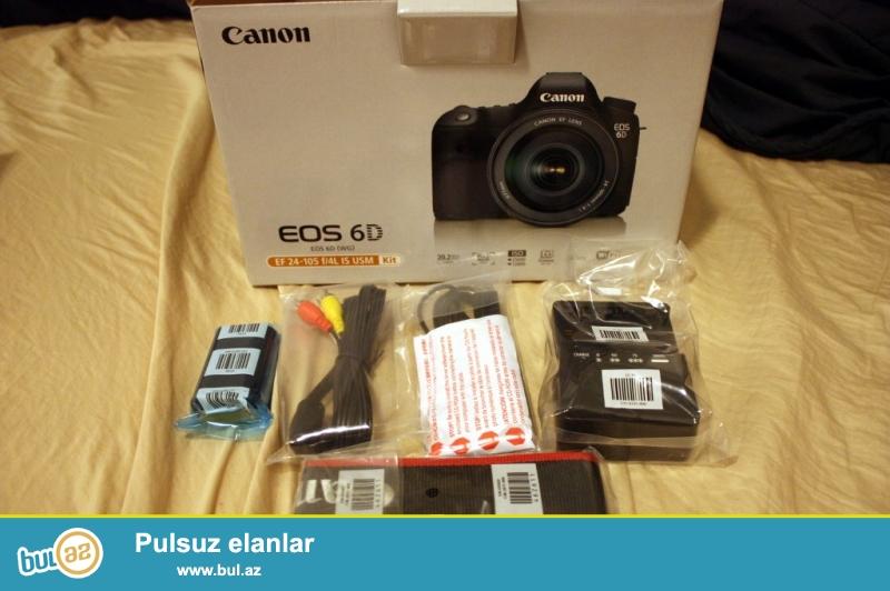 Canon EOS 6D 20.2 MP Digital SLR Canon EF 24-70mm f / 4 L USM Lens IS / w<br /> <br /> Brand: Canon<br /> Kamera Çözüntülüyü 20...