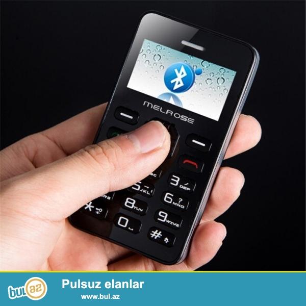 Yeni.çatdırılma pulsuz<br /> Melroz G1 Ultranazik kredi kartı boyda telefon Yeni<br /> Brand:Melroz<br /> Yaddaş kartı dəstəkləyir<br /> Ekran:1...
