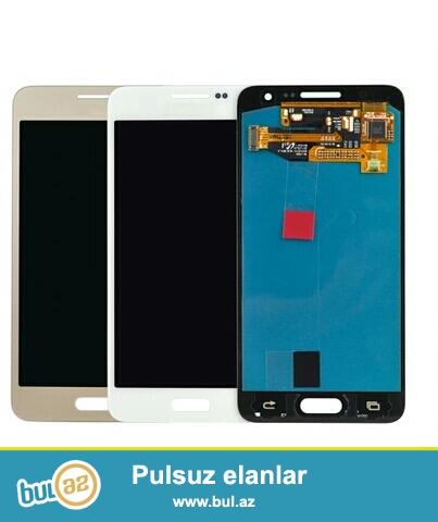 Samsung Galaxy A3 (2015) Ekrani Aliram<br /> <br /> Rengi ferqi yoxdu esasen Gold renge ustunluk verilir<br /> <br /> Platasi xarab olsada olar tek ekran işlesin...