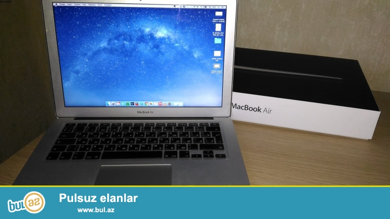 Essalamu aleykum. Apple Macbook Air core i5 4 gb ram processor 64 gb ssd ideal veziyyetde...