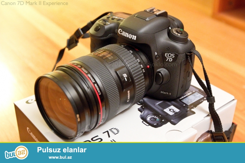 Canon EOS 7D Mark II Digital SLR Body 20.2MP Yaponiya<br /> <br /> Brand: Canon<br /> Qoşulma: USB<br /> Model: 7D<br /> Rəng: Qara<br /> Series: Canon EOS<br /> DSLR: Bəli...