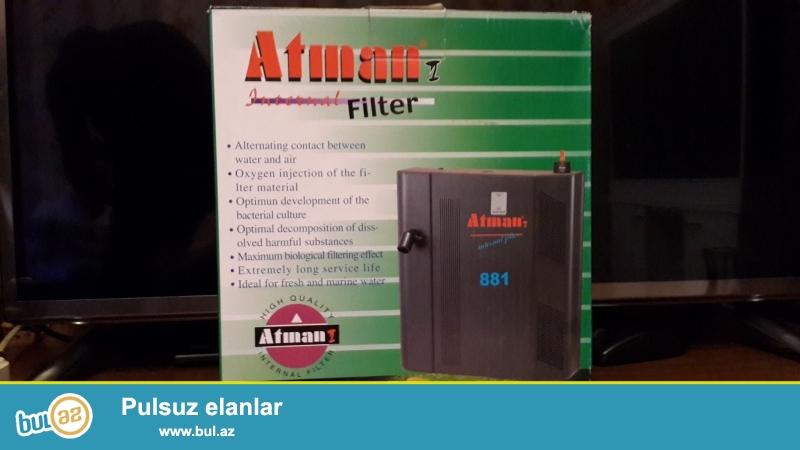 Atman at-881 Daxili bio-filtrr 80-150lt qeder. Sekil oz sekilidi.