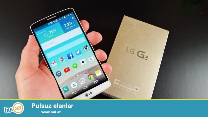 LG G3 D855 - 16GB White LTE 4G (250 AZN) - əla vəziyyətdə (Qutusu+Adaptor+LG Nauşniki ilə birlikdə)...