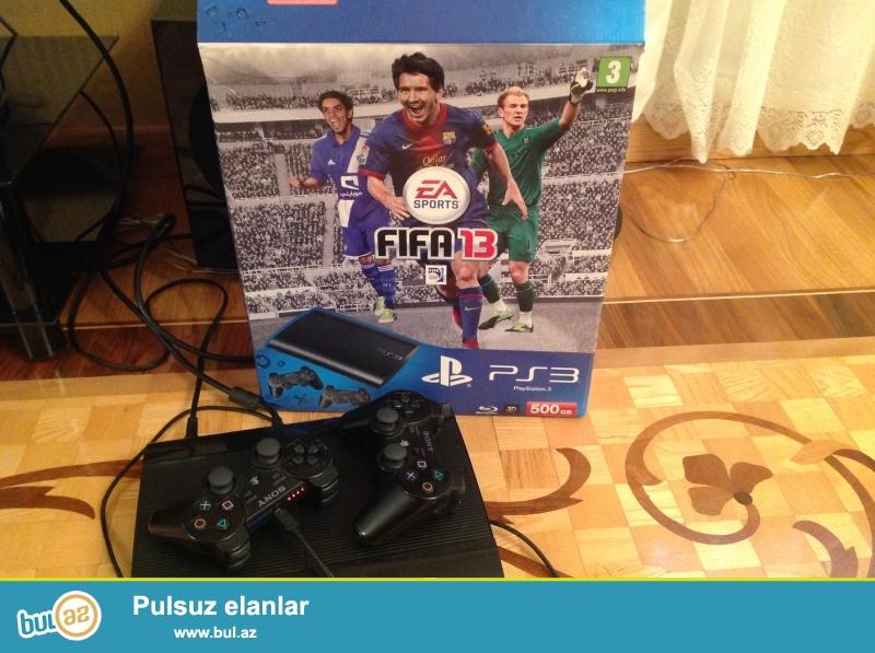 Playstation3 Superslim 500GB! 2 cozik, psstoredan Pes16 yuklenib.