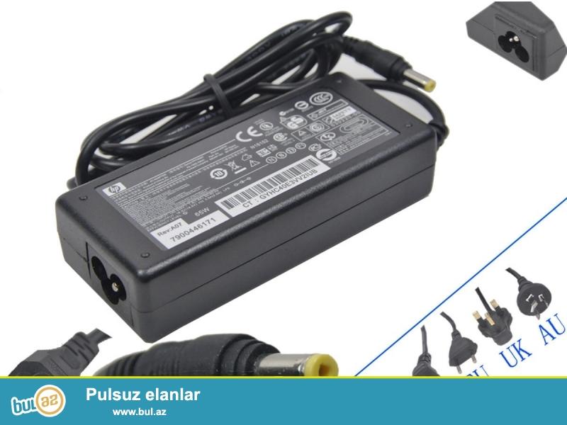 Noutbuklar üçün aksessuarlar<br /> Orginal hp notebook Ac adabtir satilir usden gelendir 100% bu isdifadecinin alinan mallara zamanet verilir