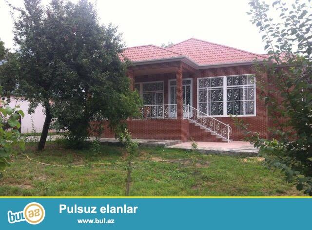 QEBELEDE.QEBELEND ve Tufandag kanat ve xizek Eylence merkezine-700 metr mesafede luks temirli 4-otaqli bag evi satilir...