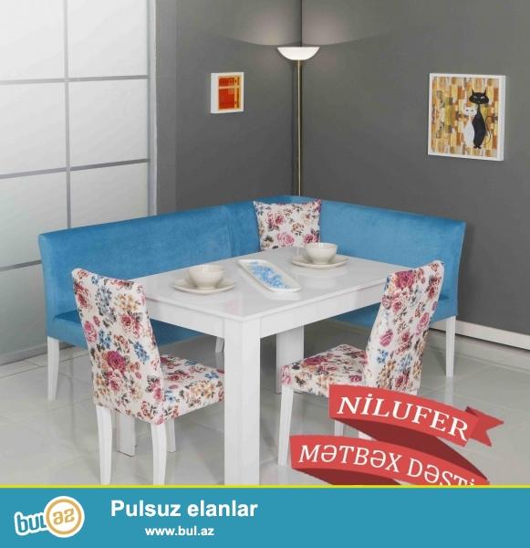 """Türkiyə istehsalı yüksək keyfiyyətli """"NİLUFER"""" mətbəx dəsti 6 aylıq faizsiz kreditlə 870 AZN..."""