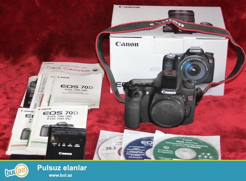 Christmas Bonous !!<br /> 2 Units pulsuz 1 almaq Almaq<br /> <br /> <br /> Canon EOS 70D Digital Camera bədən<br /> LP-E6 oluna Lithium-Ion Battery Pack (7...