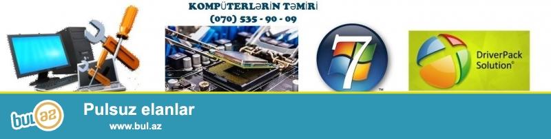 Kompüterlərin Təmiri TEL : (070) 535 - 90 - 09<br />\r\nWindows xp , 7 ,8 Formatlarının yazılması...