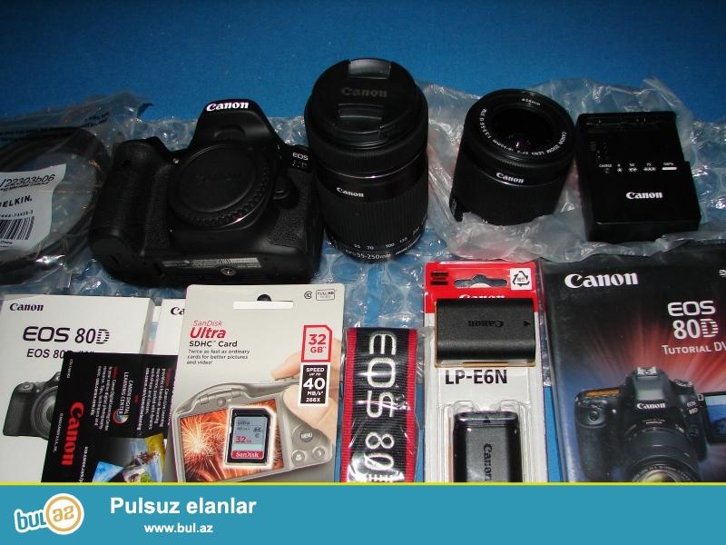 EFS 18-55 və 55-250 Lens ilə Canon EOS 80D Camera Kit...