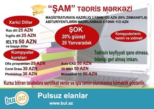 """""""SAM"""" TEDRIS MERKEZI...<br /> Magisrtaturaya hazirliq 3 fen 100 azn..."""
