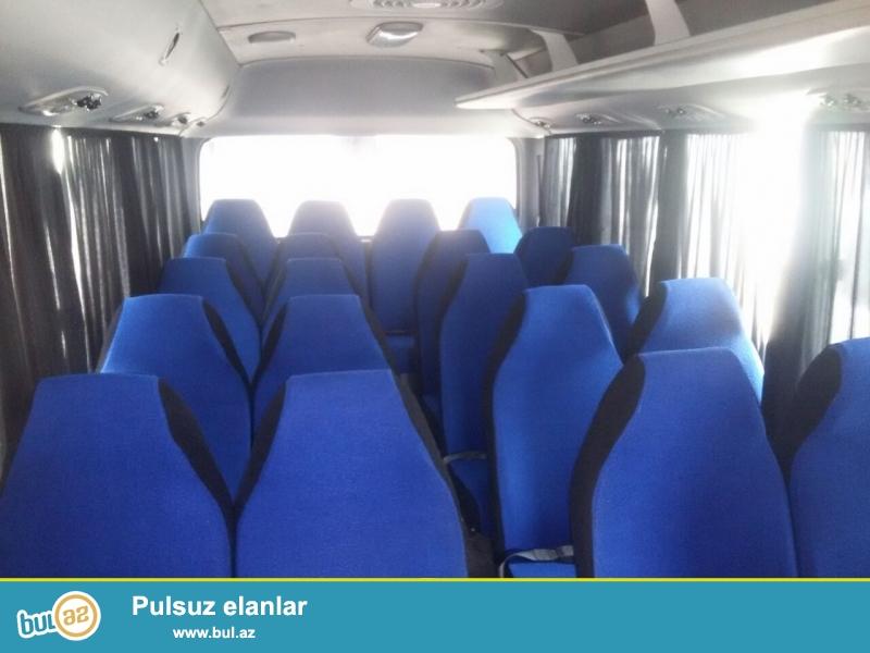 Bizdə Hyunday County 28 yerlik full,Mercedes-Sprinter 18 yerlik full,birdə Ford Transir 17 yerlik avtobuslar vardır...