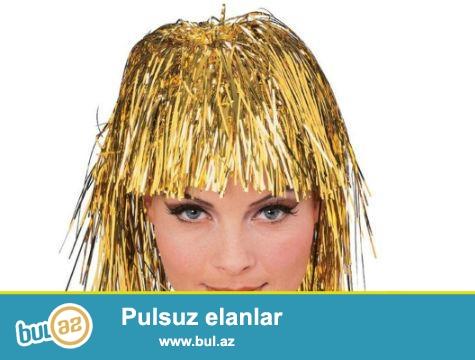 Metalize Parti Peruğu - Sarı<br /> <br /> Çılgın partilerin vazgeçilmez aksesuarı!<br /> <br />  <br /> <br /> Partinizde ilginç aksesuarlar kullanarak partiye katılanların eğlenceli anlar geçirmesini sağlayabilirsiniz...