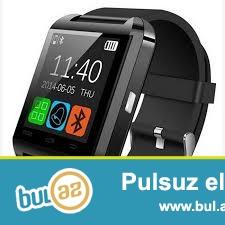 Smart watch u8.Blutuzla telefona qowulur,zeng etmek,mahni dinlemek mesaj oxumaq,kameradan istifade etmek,kalkuliator ve ...