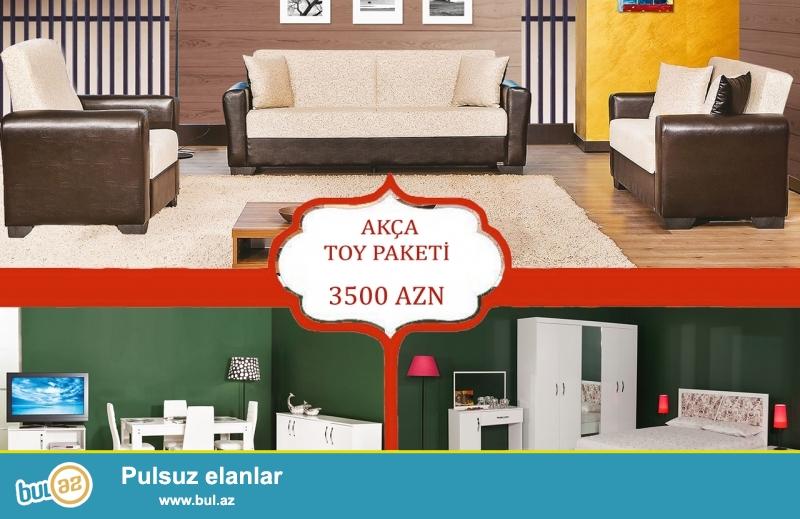 """Türkiyə istehsalı 3 dəstlik \""""AKÇA\"""" toy paketi 12 aylıq faizsiz kreditlə 3500 AZN..."""