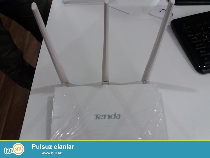 Yeni Tenda wifi router.1 WAN,3 LAN portu 3 antenası var...