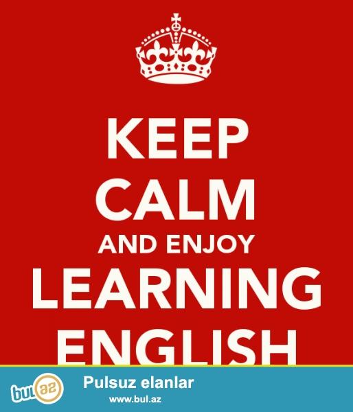 Ingilis dilinin qisa zamanda danisig ve ya qrammatika ( telebenin isteyinden asili olaraq) oyredilmesi! Fergli, maragli ve yeni metodika ile Ingilis dilini qisa bir zamanda arzu etdiyiniz seviyyede oyredilmesi...