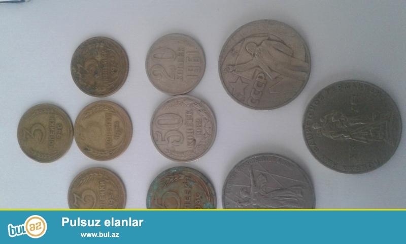 1930-cu ildən 1991-ci ilədək müxtəlif illərin buraxılışlarından olan köhnə SSRİ qəpikləri...