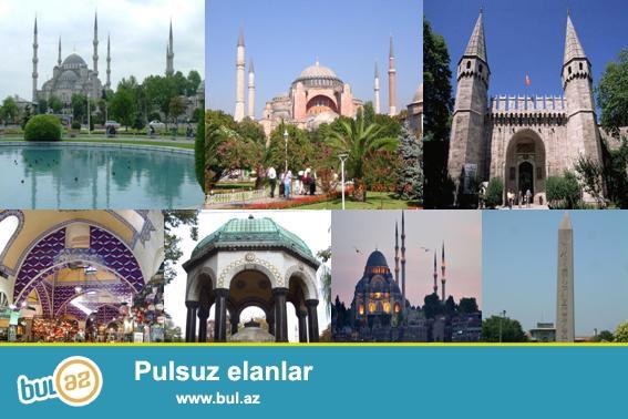 İstanbulun mərkəzinə (Taksim, Sultanahmet, Beşiktaş) 3 və 4 ulduzlu otellərə 3 gecə 4 günlük oteldə 2 nəfər üçün gecələmə...