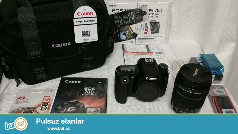 Xmas yenə burada !!!<br /> Promo! Promo !! Promo !!!<br /> <br /> 2 Units 1 pulsuz almaq al!<br /> <br /> <br /> Canon EOS 70D Digital Camera bədən<br /> LP-E6 oluna Lithium-Ion Battery Pack (7...